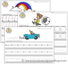 Preprinting Sheets - Help your child learn to manipulate a pencil, improve eye-hand control and learn the basics of printing strokes. Place in page protector or laminate and use a dry erase marker for practice.