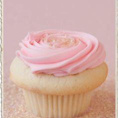 Strawberry champagne cupcake @ Cupcake Royal.  Love.