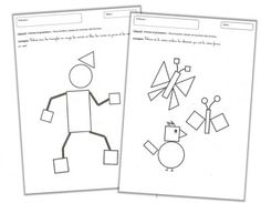 Formes et Grandeurs - pdf story, and sheets to colour by shape Teaching Geometry, Teaching Shapes, French Teaching Resources, Teaching French, Scissor Practice, Art History Memes, Cycle 1, Core French, 1st Grade Math