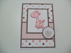hand stamped baby girl cards | Över 1000 idéer om Babykort på Pinterest | Stampin Up, Stämpla och ...