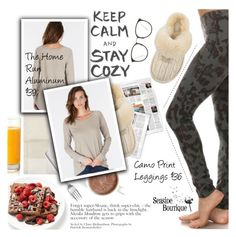 """Stay Cozy"" by seaside-boutique ❤ liked on Polyvore featuring Le Jacquard Français, UGG Australia, Menu, Linda Farrow, women's clothing, women's fashion, women, female, woman and misses"