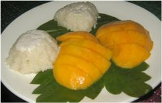 Mango sticky rice  -  Food you must try in Thailand