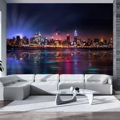 Papier peint – Romantic moments in New York City New Wallpaper, Photo Wallpaper, Wallpaper Murals, Wallpaper Ideas, Mural Art, Wall Murals, New York Graffiti, Sidewalk Art, Inspirational Wallpapers