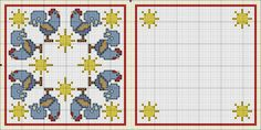 Birds, cross stitch pattern