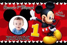 mickey mouse 1st birthday invitations ideas free printable
