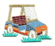 GOLF - GOLF CART - SPORTS - EMBROIDERED IRON ON PATCH #Unbranded