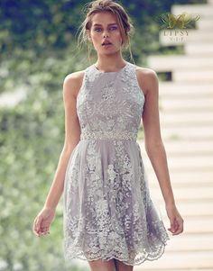Lipsy Vip Lace Embellished Prom Dress