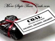 Coal Cookies for Christmas with Printable Label