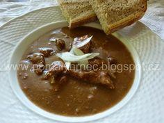 Pomalý hrnec: Hovězí guláš v pomalém hrnci Crockpot, Slow Cooker, Food And Drink, Pudding, Desserts, Blog, Tailgate Desserts, Deserts, Crock Pot