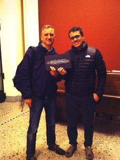 Paolo Ferrara fron Terre des Hommes Italia and Matteo Fiorini from Xmas Project