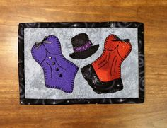 Looking for your next project? You're going to love Burlesque Mug Rug - Cabaret Mini Quilt by designer Sher's Patterns.