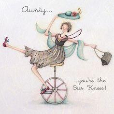Cards » Aunty » Aunty -  , Ladies Who Love Life ... Berni Parker funny cute     Berni Parker Designs