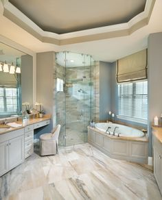 Rutenberg - Melbourne Luxury Designer Home - Bathroom - glass walk in shower - amazing floor tile