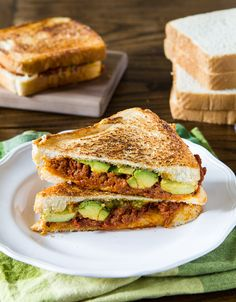 Chorizo avocado grilled cheese