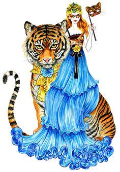 Illustration.Files: Gucci Cruise 2016 Fashion Illustration by Sunny Gu