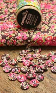 liberty fabric covered buttons