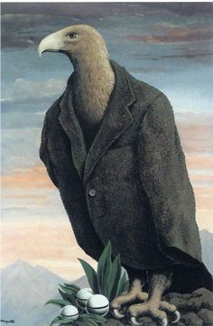 The present - Rene Magritte Rene Magritte  ( 1898 - 1967 ) More At FOSTERGINGER @ Pinterest