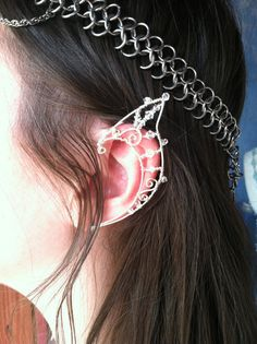 Elf Ear Crowns By Starlit Skies- sterling silver filled wire - via Etsy.
