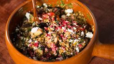 Freekeh Salad with Pomegranate Seeds & Molasses