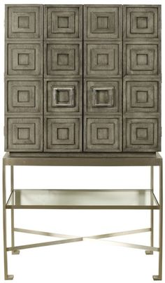 Vanguard Furniture: Knickerboker Bar Cabinet (Can be customized in finishes however, bas is only Stainless Steel) Vanguard Furniture, Accent Chests And Cabinets, Interior Furniture, Transitional Decor Living Room, Cabinet, Furniture, Bar Cart Decor, Bar Cabinet, Hotel Furniture