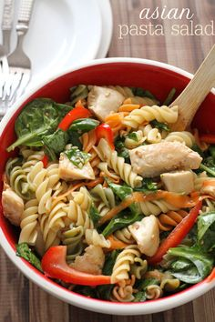 Delicious Asian Pasta Salad recipe - so delicious and flavorful!
