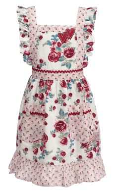 Rose apron, I have one like this, it was my great grand mother's, awesome to see one like it.