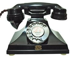 Art Déco Siemens Brothers London Telephone  ~Repinned Via Nuceu alves