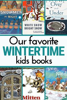 Looking for some winter kids books? These are some of our favorite books about snow, skiing, winter, Winter Outdoor Activities, Nature Activities, Book Activities, Kindergarten Books, Preschool Books, Kindergarten Centers, Literacy Centers, Winter Kids, Kids Learning