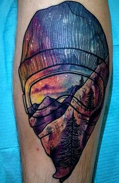 Mountain Tattoo cool design