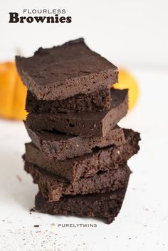 fudgy flourless chocolate brownie recipe sweetened with plaintains