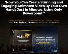 Vidibee Powerpoint Video Maker Tools By Maghfur Amin is Best Powerfull Instant Video Templates, Create Your Own Animated Video Marketing In Just 10 Mіnutеѕ For Any Marketing Your Business With Using Only Місrоѕоft PowerPoint. Now You Can Create Stunning and Engaging Animated Video By Your Own Hands Just In Minutes, Using Only Powerpoint  #powerpoint #templates #video #marketing #animated #business