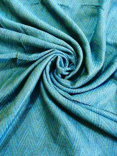 cotton and linen Aqua