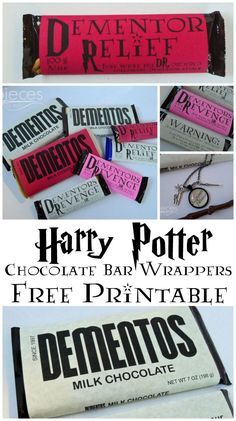 Pieces by Polly: Harry Potter Valentine Printable - Dementor Relief Chocolate Bar Wrappers