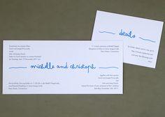 simple bilingual wedding invitation
