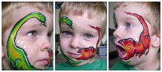 Double Dino facepainting