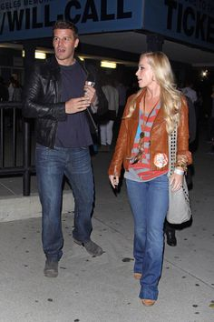 David Boreanaz Photos Photos - David Boreanaz arriving to the Bruce Springsteen…