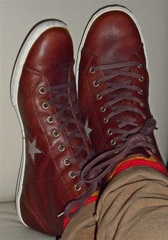 8c4c2f06a6ba Converse...nice kicks Brown Leather Converse