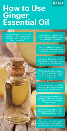 Ginger essential oil has so many health benefits, particularly for your gut. It reduces inflammation and nausea, and it adds a nice flavor to ginger oil recipes. Ginger Essential Oil, Patchouli Essential Oil, Doterra Essential Oils, Young Living Essential Oils, Essential Oil Blends, Oil Benefits, Health Benefits, Health Tips, Ginger Benefits