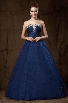 c9ee8cc9b Vestidos de Fiesta de 15 Años de color Azul Vestidos De Fiesta Azules