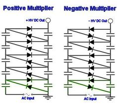 Voltage Multiplier Circuit Diagrams