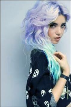 pastel violet to mint green - Coloration Violet Pastel