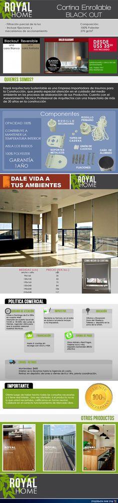 Cortinas Roller Black Out 100% Opacas , 190x165 U$s 75 - U$S 75,00 en Mercado Libre