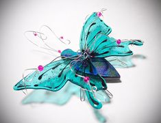 Butterfly Flight into Fantasy  Fused Glass by DragonflyDreams1
