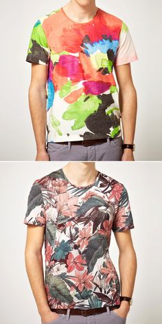 PAUL SMITH JEANS FLORAL T SHIRT TEE TOP BRIGHT TROPICAL SPRING SUMMER 2012 ASCULINE MENS STYLE BLOG VIA ASOS