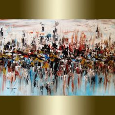 ORIGINAL abstract painting art oil painting by viorelscoropan