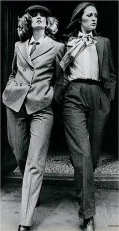 Who knew ties could look this good on us girls! This photograph from the 1970's celebrates a great look - sharp, edgy, slick fashion that commands attention…capturing a phenomenal moment in fashion history. Where women all over became confident in wearing masculine looks and are still ROCKING now!  Love…Light…Liberty x