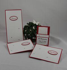 Hochzeitspapeterie  - Für immer-  Handgefertigt mit viel Liebe zum Detail.  Verwendete Materialien alle von Stampin´Up!