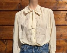Check out our embroidered blouse selection for the very best in unique or custom, handmade pieces from our blouses shops. Embroidered Blouse, Ruffle Blouse, Etsy, Shopping, Tops, Women, Fashion, Moda, Women's