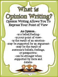 CC Opinion Writing & Craftivity plus Fact/Opinion Scoot Game Kindergarten Writing, Teaching Writing, Writing Activities, Teaching Ideas, Opinion Essay, Opinion Writing, Argumentative Writing, Persuasive Writing, Cool Writing