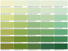 Sherwin Williams Sw6707 Narcissus Sw6708 Springtime Sw6709 Gleeful Sw6710 Melange Green Sw6711 Parakeet Sw6712 Luau Paint Colorspaint